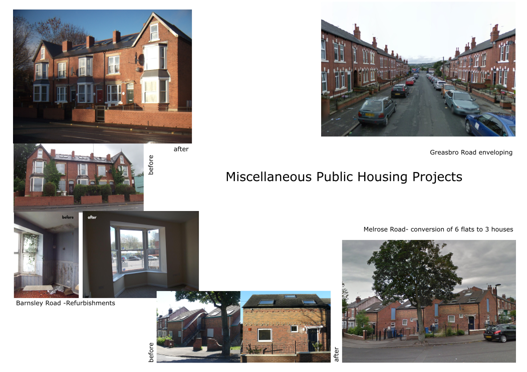 Various projects. Sector: Public housing. Various clients.